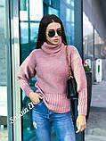 Стильный свитер, очень теплый, 42-48 р, горчичный, фото 4