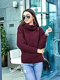 Стильный свитер, очень теплый, 42-48 р, горчичный, фото 5