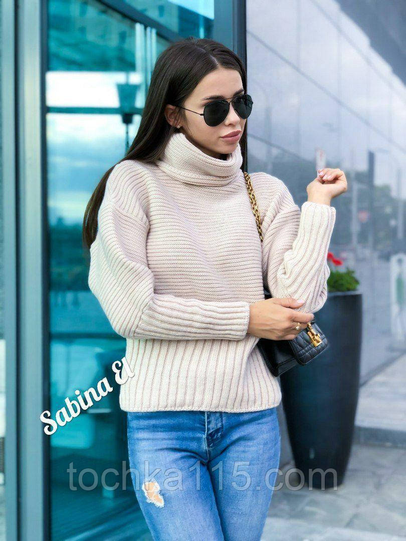 Стильний светр, дуже теплий, 42-48 р, молоко
