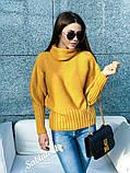 Стильний светр, дуже теплий, 42-48 р, молоко, фото 3