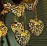 Светодиодная гирлянда сердечки 2 метра на батарейках жёлтый, фото 3