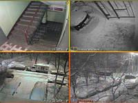 """Система видеонаблюдения на 4 камеры """"купол"""""""