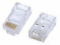 Разъем Lucktec RJ45 connector CAT5E 100 шт