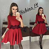 Стильне ніжне плаття крепдайвинг, S/M, фото 4