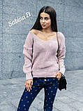 Идеальный свитер, очень теплый, 42-48 р, серый, фото 3