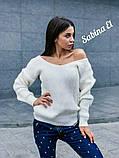 Идеальный свитер, очень теплый, 42-48 р, серый, фото 4