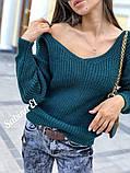 Идеальный свитер, очень теплый, 42-48 р, серый, фото 6