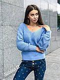 Идеальный свитер, очень теплый, 42-48 р, серый, фото 7