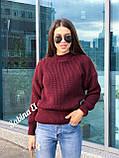 Теплый стильный свитер, 42-48 р, графит, фото 2