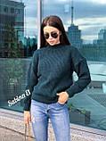Теплый стильный свитер, 42-48 р, графит, фото 6