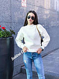 Теплый стильный свитер, 42-48 р, графит, фото 8