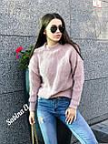 Теплый стильный свитер, 42-48 р, графит, фото 9