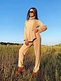 Стильный прогулочный костюмчик для осени из мягкой тёплой трикотажной ткани, 42-44, 46-48рр (кэмел), фото 4