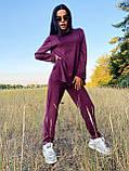 Стильный прогулочный костюмчик для осени из мягкой тёплой трикотажной ткани, 42-44, 46-48рр (кэмел), фото 6