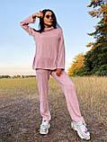 Стильный прогулочный костюмчик для осени из мягкой тёплой трикотажной ткани, 42-44, 46-48рр (кэмел), фото 7