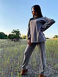 Стильный прогулочный костюмчик для осени из мягкой тёплой трикотажной ткани, 42-44, 46-48рр (розовый), фото 5