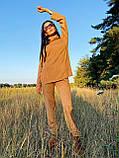 Стильный прогулочный костюмчик для осени из мягкой тёплой трикотажной ткани, 42-44, 46-48рр (розовый), фото 7