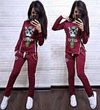 Жіночий спортивний костюм, костюм для прогулянок S/M/L/XL/2XL (темно-синій), фото 2