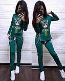 Жіночий спортивний костюм, костюм для прогулянок S/M/L/XL/2XL (темно-синій), фото 5