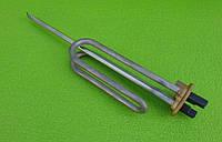 Тэн гнутый нержавейка KAWAI для бойлера 1500W (на фланце Ø48мм) / короткие контакты / с местом под анод М6, фото 1