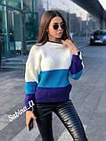 Модный теплый свитер, полушерсть,  42-48 р,, фото 6