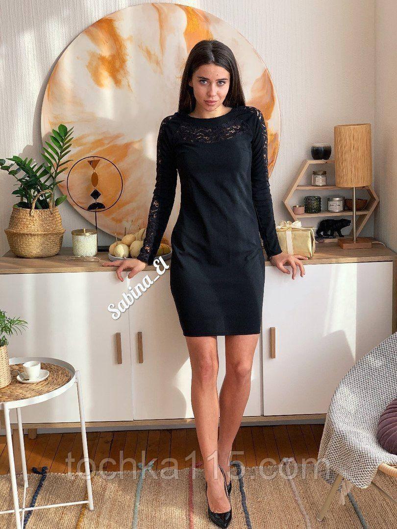 Шикарное стильное платье, 42, 44, 46рр, черный