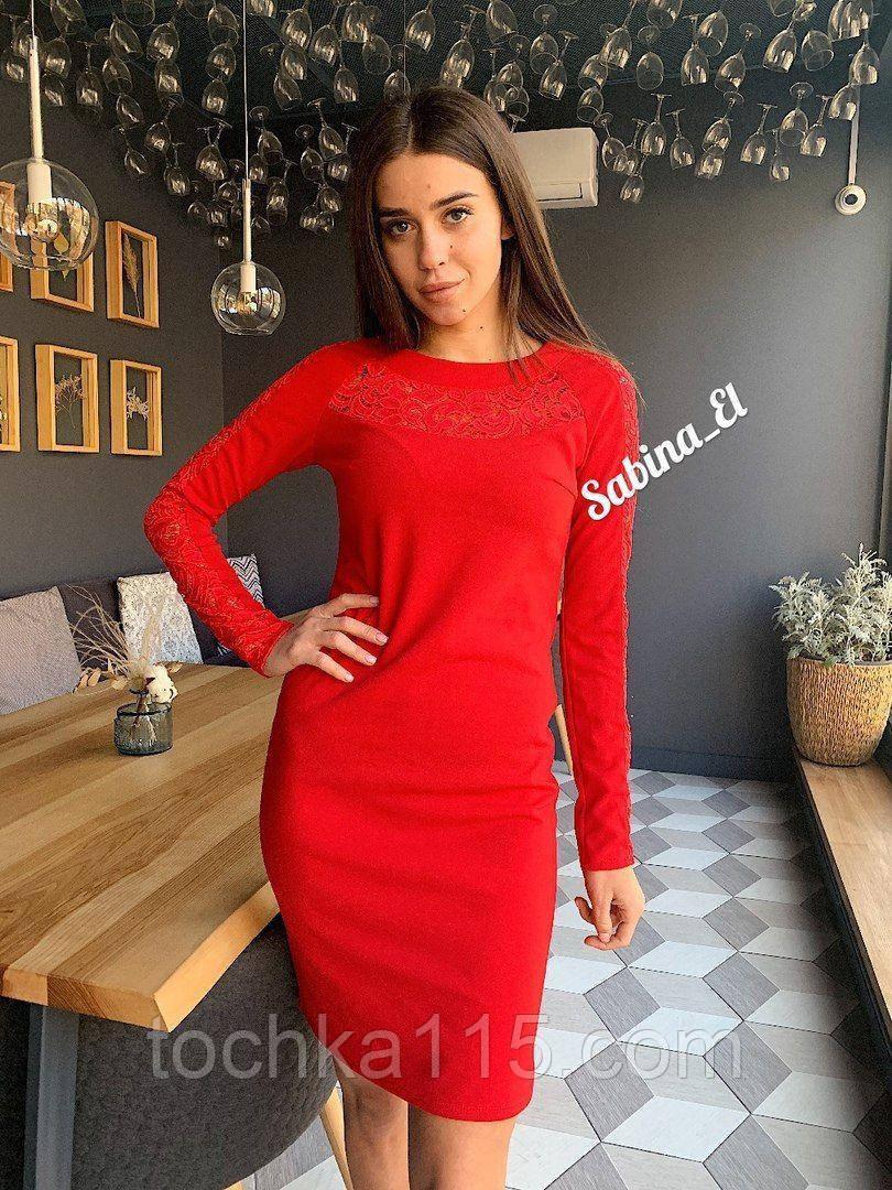 Шикарное стильное платье, 42, 44, 46рр, красный