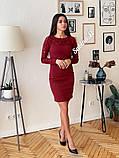 Шикарное стильное платье, 42, 44, 46рр, красный, фото 4