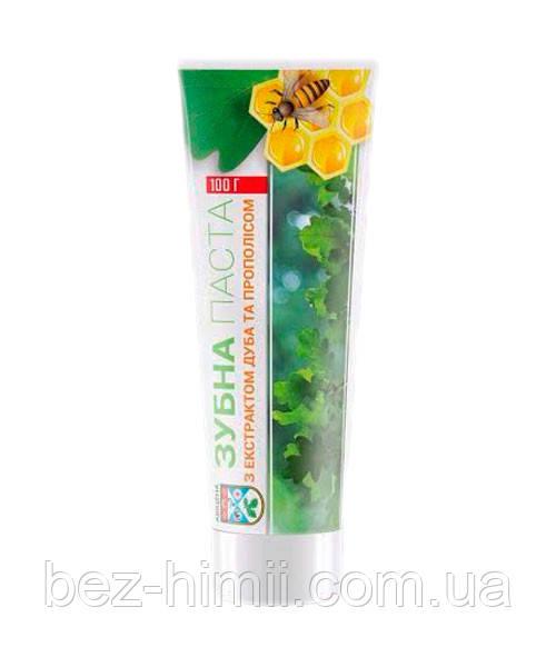 Натуральная зубная паста с экстрактом дуба и прополиса. Авиценна.