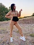 Стильный прогулочный костюмчик для осени из мягкой тёплой трикотажной ткани, 42-44, 46-48рр (черный), фото 3