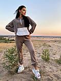 Стильный прогулочный костюмчик для осени из мягкой тёплой трикотажной ткани, 42-44, 46-48рр (черный), фото 5