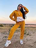 Стильный прогулочный костюмчик для осени из мягкой тёплой трикотажной ткани, 42-44, 46-48рр (черный), фото 6