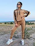 Модный костюм из мягкой тёплой трикотажной ткани, 42-44, 46-48рр (серый), фото 2
