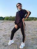 Модный костюм из мягкой тёплой трикотажной ткани, 42-44, 46-48рр (серый), фото 4