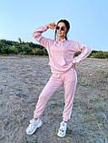 Модный костюм из мягкой тёплой трикотажной ткани, 42-44, 46-48рр (серый), фото 5
