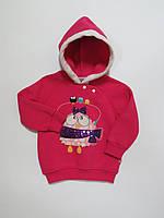 Тёплая толстовка/кофта с начёсом для девочек Турция 86р 92р