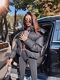 Супер модна куртка з голографічним напиленням (оверсайз), колір рожевий, фото 2