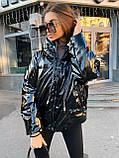 Куртка пуховик из экокожи  в стиле ZARA, S/M, цвет бежевый, фото 2