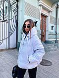 Куртка пуховик из экокожи  в стиле ZARA, S/M, цвет бежевый, фото 4