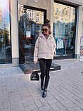 Куртка пуховик из экокожи  в стиле ZARA, S/M, цвет черный лаковый, фото 5