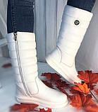 Сапоги дутыши молодежные зима из натуральной кожи от производителя модель НИ037, фото 3