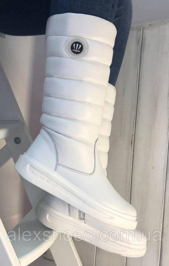 Сапоги дутыши молодежные зима из натуральной кожи от производителя модель НИ037