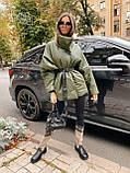 Стильная куртка из экокожи, S/M, пудра, фото 4