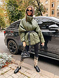 Стильная куртка из экокожи, S/M, черный, фото 2