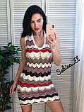 Нежное платье, машинная вязка 42-46 р, фото 3