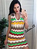 Нежное платье, машинная вязка 42-46 р, фото 5