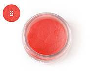 Цветная акриловая пудра 3D, для лепки, #006 Неоновый персиковый, Velena, 5г
