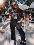 Супер модный костюм на осень с мультяшным принтом , S/M, бежевый, фото 2