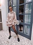 Самое любимое и удобное платье свитер, 42-48 р, цвет розовый, фото 2