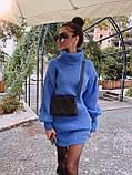 Самое любимое и удобное платье свитер, 42-48 р, цвет лиловый, фото 3